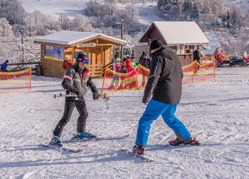 nauka jazdy na nartach, u gazdy wisła